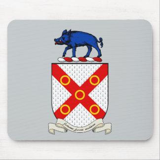 Escudo de armas de Barron Mouse Pads