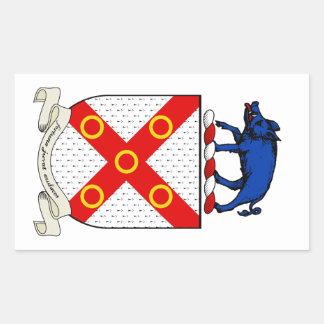 Escudo de armas de Barron Pegatina Rectangular
