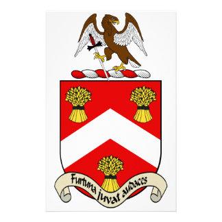 Escudo de armas de Barron Personalized Stationery