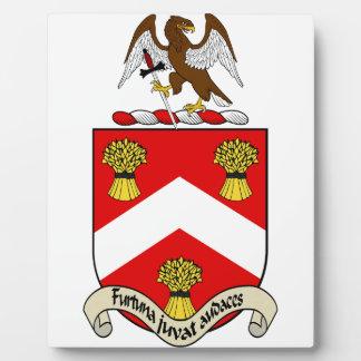 Escudo de armas de Barron Placas Con Foto