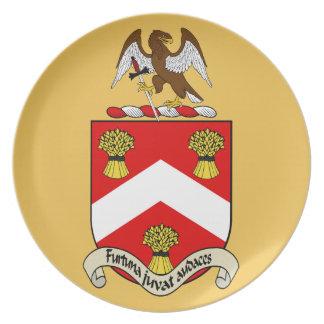 Escudo de armas de Barron Plato Para Fiesta