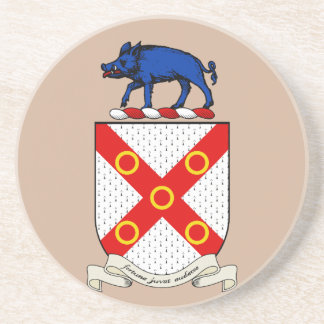 Escudo de armas de Barron Posavasos Personalizados