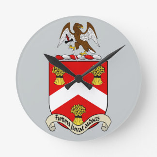 Escudo de armas de Barron Reloj Redondo Mediano
