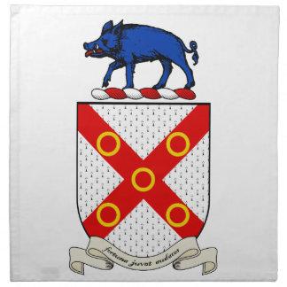 Escudo de armas de Barron Servilletas De Papel