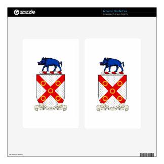 Escudo de armas de Barron Skins Para Kindle Fire