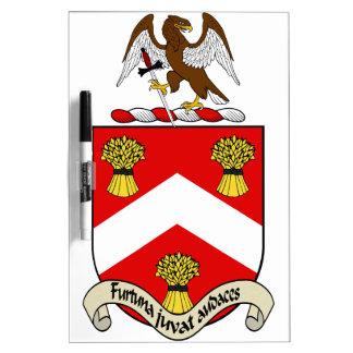 Escudo de armas de Barron Tableros Blancos