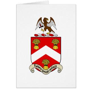 Escudo de armas de Barron Tarjeta De Felicitación