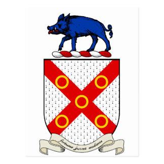 Escudo de armas de Barron Tarjeta Postal