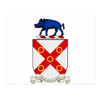 Escudo de armas de Barron Tarjetas Postales