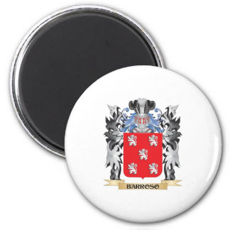 Escudo de armas de Barroso - escudo de la familia Imán Redondo 5 Cm