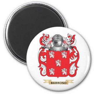 Escudo de armas de Barroso (escudo de la familia) Imán Redondo 5 Cm