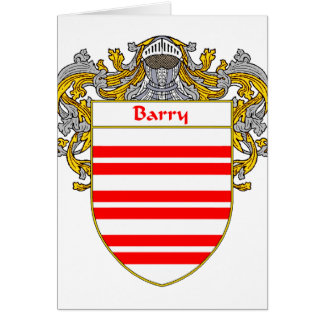 Escudo de armas de Barry/escudo de la familia (cub Tarjeta De Felicitación