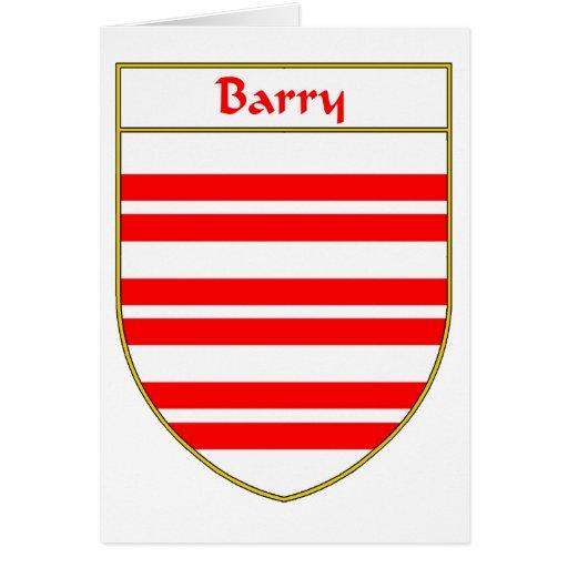 Escudo de armas de Barry/escudo de la familia Tarjeta De Felicitación