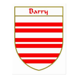 Escudo de armas de Barry/escudo de la familia Tarjeta Postal