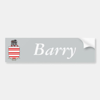 Escudo de armas de Barry Pegatina Para Auto