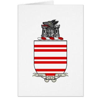 Escudo de armas de Barry Tarjeta De Felicitación