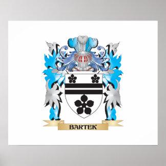 Escudo de armas de Bartek Póster