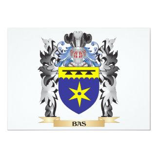 """Escudo de armas de Bas - escudo de la familia Invitación 5"""" X 7"""""""