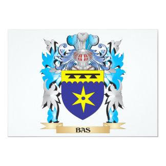 """Escudo de armas de Bas Invitación 5"""" X 7"""""""