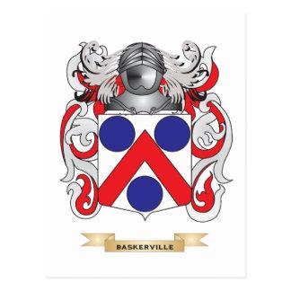 Escudo de armas de Baskerville (escudo de la Postales