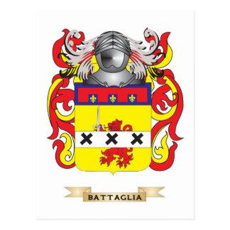 Escudo de armas de Battaglia (escudo de la familia Tarjetas Postales