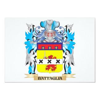 """Escudo de armas de Battaglia Invitación 5"""" X 7"""""""