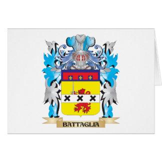 Escudo de armas de Battaglia Tarjeta Pequeña
