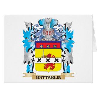 Escudo de armas de Battaglia Tarjeta De Felicitación Grande