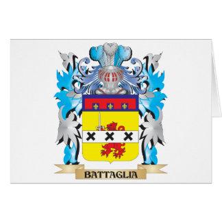 Escudo de armas de Battaglia Tarjeta De Felicitación
