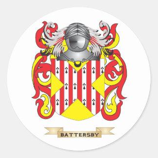Escudo de armas de Battersby (escudo de la Pegatina Redonda