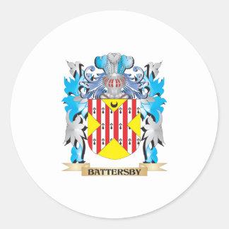Escudo de armas de Battersby Pegatinas Redondas