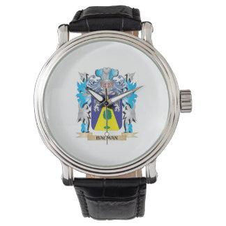 Escudo de armas de Bauman Relojes De Mano