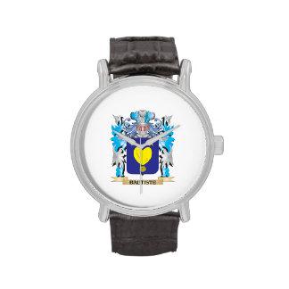 Escudo de armas de Bautiste Relojes De Pulsera