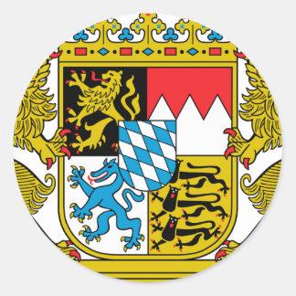 Escudo de armas de Baviera (Alemania) Pegatina Redonda