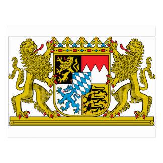 Escudo de armas de Baviera (Alemania) Tarjeta Postal