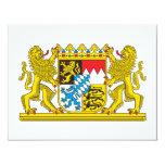 Escudo de armas de Baviera Invitación 10,8 X 13,9 Cm