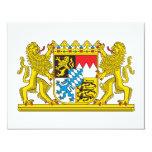 """Escudo de armas de Baviera Invitación 4.25"""" X 5.5"""""""