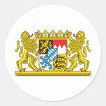 Escudo de armas de Baviera Pegatina Redonda