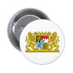 Escudo de armas de Baviera Pin Redondo 5 Cm