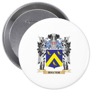 Escudo de armas de Baxter - escudo de la familia Pin Redondo 10 Cm