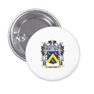 Escudo de armas de Baxter - escudo de la familia Pin Redondo 2,5 Cm