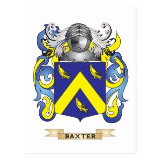 Escudo de armas de Baxter (escudo de la familia) Postal