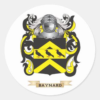 Escudo de armas de Baynard (escudo de la familia) Pegatina Redonda
