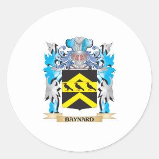 Escudo de armas de Baynard Pegatina Redonda