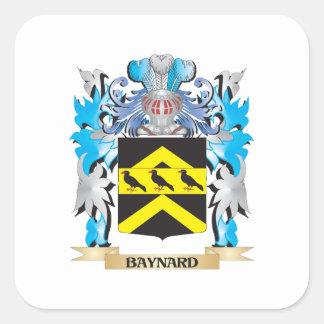 Escudo de armas de Baynard Pegatina Cuadrada