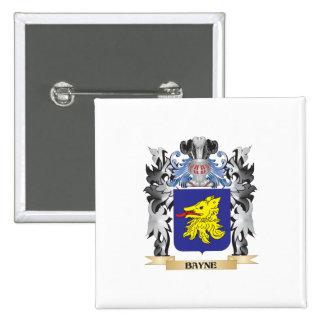 Escudo de armas de Bayne - escudo de la familia Pin Cuadrada 5 Cm
