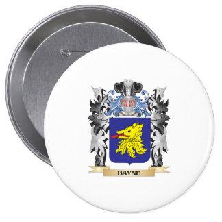 Escudo de armas de Bayne - escudo de la familia Pin Redondo 10 Cm