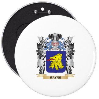 Escudo de armas de Bayne - escudo de la familia Pin Redondo 15 Cm