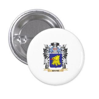 Escudo de armas de Bayne - escudo de la familia Pin Redondo 2,5 Cm