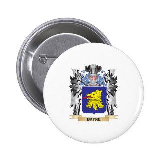 Escudo de armas de Bayne - escudo de la familia Pin Redondo 5 Cm